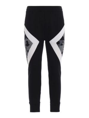 NEIL BARRETT: pantaloni sport - Joggers skinny con parti camouflage