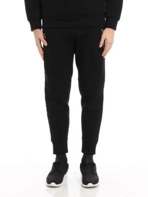 Neil Barrett: tracksuit bottoms online - Biker style scuba fabric trousers