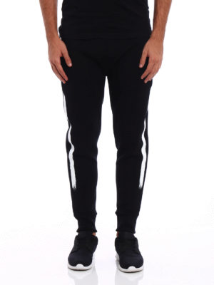 Neil Barrett: tracksuit bottoms online - Brush stroke neoprene track pants