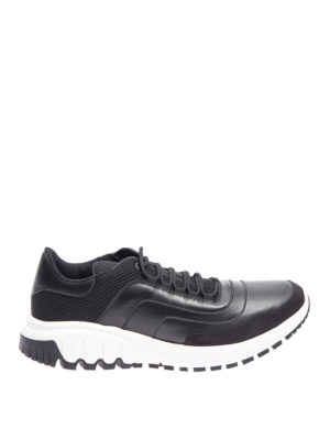 Neil Barrett: trainers - Leather and mesh fabric sneakers