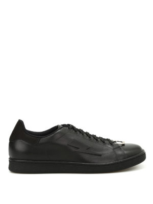 Neil Barrett: trainers - Punk pierced sneakers