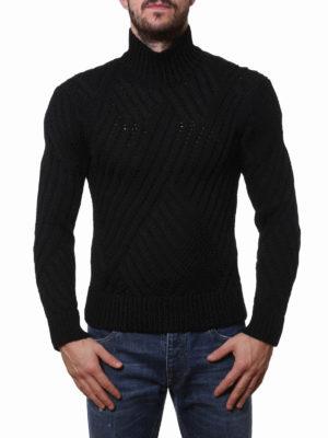 Neil Barrett: Turtlenecks & Polo necks online - Wool ribbed turtleneck sweater