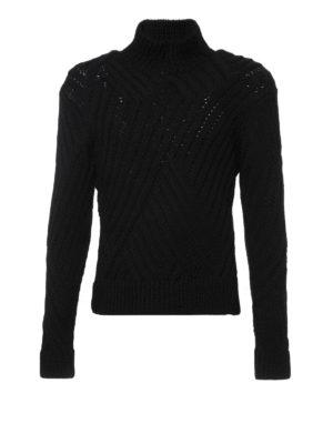 Neil Barrett: Turtlenecks & Polo necks - Wool ribbed turtleneck sweater