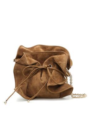 Nina Ricci: cross body bags - Lily suede bag