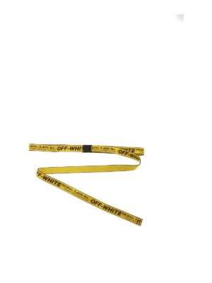 OFF-WHITE: belts - Mini Industrial belt in yellow and black
