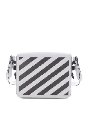 Off-White: cross body bags - Diag Square leather bag