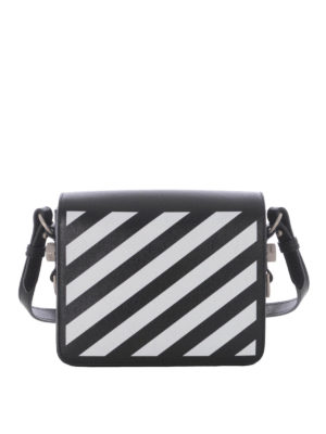 Off-White: cross body bags - Diag Square leather cross body bag