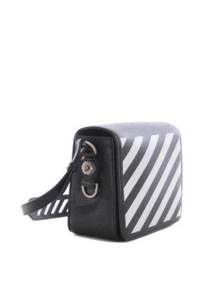 Off-White: cross body bags online - Diag Square leather cross body bag