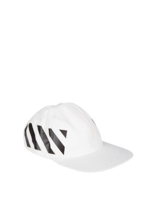 OFF-WHITE: hats & caps - Diag white baseball cap