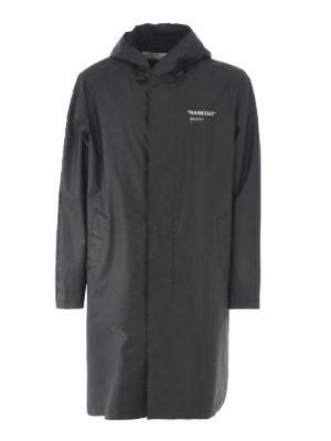 OFF-WHITE: cappotti al ginocchio - Impermeabile Quote