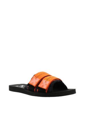 OFF-WHITE: sandali online - Ciabatte con cinturini Industrial