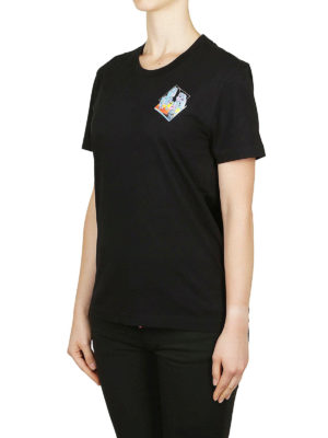 OFF-WHITE: t-shirt online - T-shirt con stampa microambiente