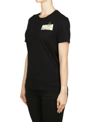 OFF-WHITE: t-shirt online - T-shirt con stampa Table with a pole