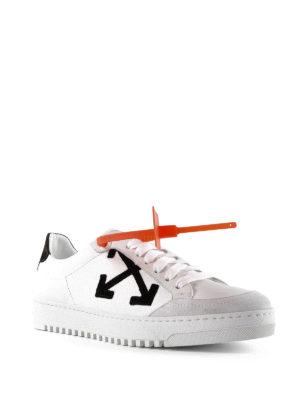 OFF-WHITE: sneakers online - Sneaker in pelle White Arrows