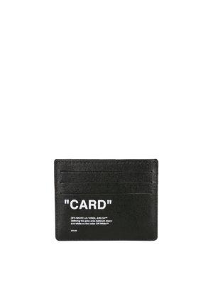OFF-WHITE: portafogli online - Porta carte in pelle Card