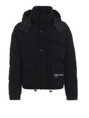 OFF-WHITE: giacche imbottite - Piumino Quote con cappuccio staccabile