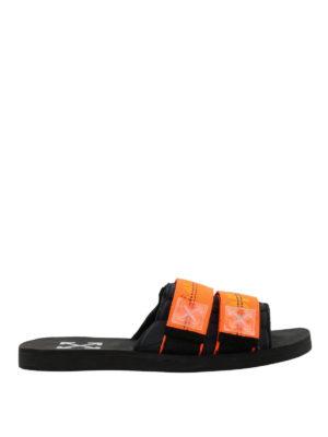 OFF-WHITE: sandali - Ciabatte con cinturini Industrial