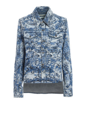 OFF-WHITE: camicie - Camicia in denim Tapestry