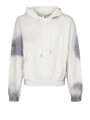 OFF-WHITE: Felpe e maglie - Felpa grigia con cappuccio e stampa tie-dye