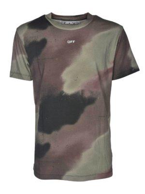OFF-WHITE: t-shirts - Camo Stencil Slim T-shirt