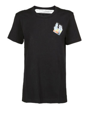 OFF-WHITE: t-shirt - T-shirt con stampa microambiente
