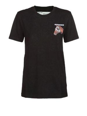 OFF-WHITE: t-shirt - T-shirt nera Modern