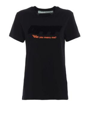 OFF-WHITE: t-shirt - T-shirt nera Modern Obstacles