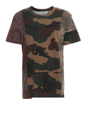 OFF-WHITE: t-shirt - T-shirt Reconstructed Camo