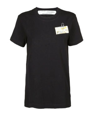 OFF-WHITE: t-shirt - T-shirt con stampa Table with a pole