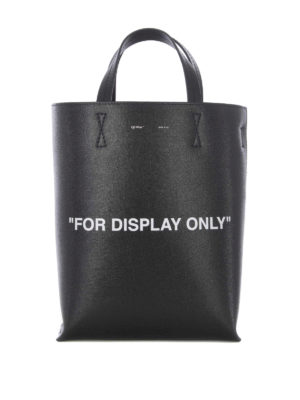 OFF-WHITE: shopper - Shopper For Display Only in pelle