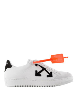 OFF-WHITE: sneakers - Sneaker in pelle White Arrows