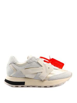 hot sale online 03947 b8ebe OFF-WHITE  sneakers - Sneaker bianche in pelle e nylon