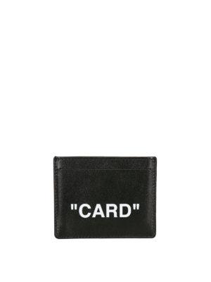 OFF-WHITE: portafogli - Porta carte in pelle Card