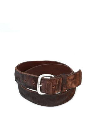 ORCIANI: cinture - Cintura Cutting testa di moro in pelle