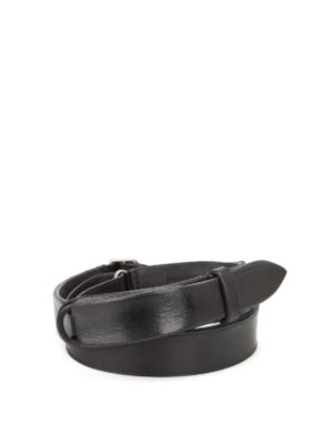 Orciani: belts - Dive Nobuckle black leather belt