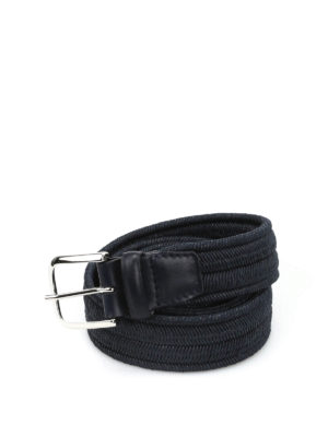 Orciani: belts - Elast braided elastic blue belt