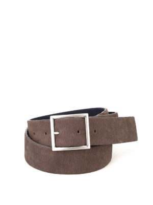 Orciani: belts - Elasticated nubuck reversible belt