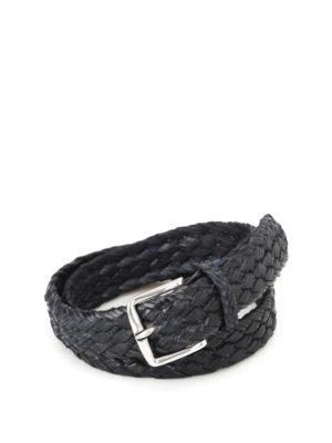 ORCIANI: cinture - Cintura Fort in pelle intrecciata