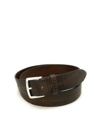 Orciani: belts - Hive leather belt