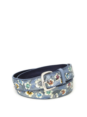 Orciani: belts - Ibis embossed leather belt