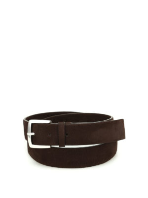 Orciani: belts - Long Beach nubuck belt