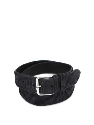 ORCIANI: cinture - Cintura New Bark in pelle nera
