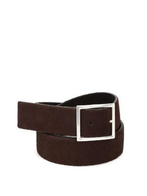 Orciani: belts - Nubuck elasticated reversible belt