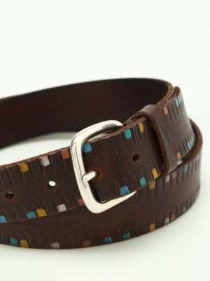 Orciani: belts online - Afrika leather belt