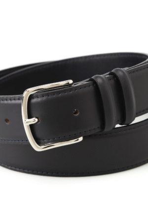 Orciani: belts online - Bali dark blue leather belt