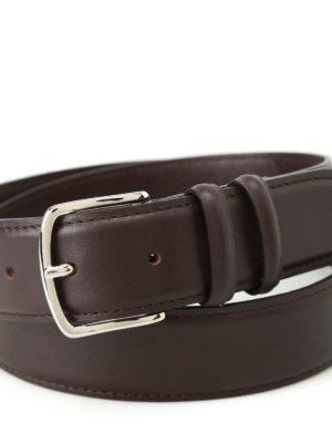 Orciani: belts online - Bali dark brown leather belt