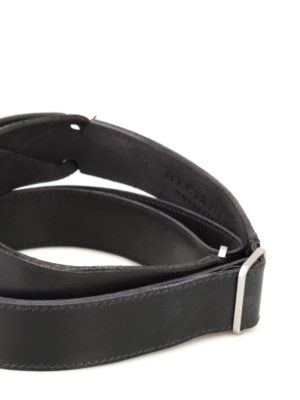 Orciani: belts online - Dive Nobuckle black leather belt