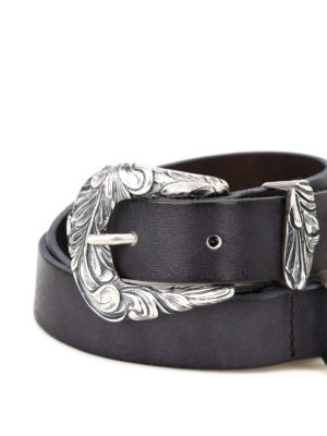 Orciani: belts online - Double buckle leather belt