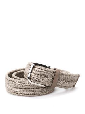 Orciani: belts online - Elast braided elastic belt