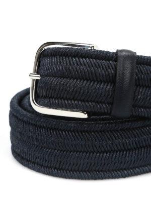 Orciani: belts online - Elast braided elastic blue belt